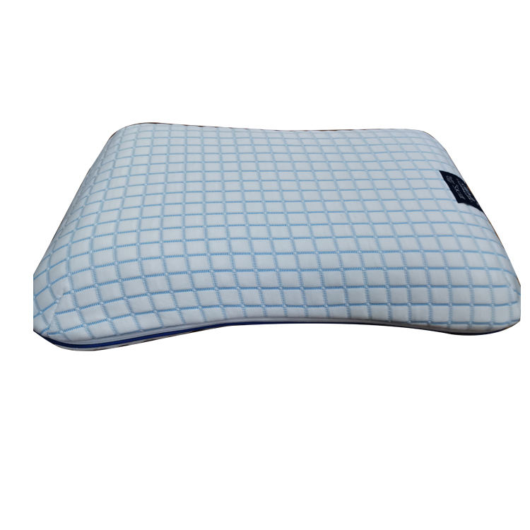 Comfort Private Label Anti Snoring High Polymer Curved Bed Pillow 5 Star Hotel Headrest Pillow