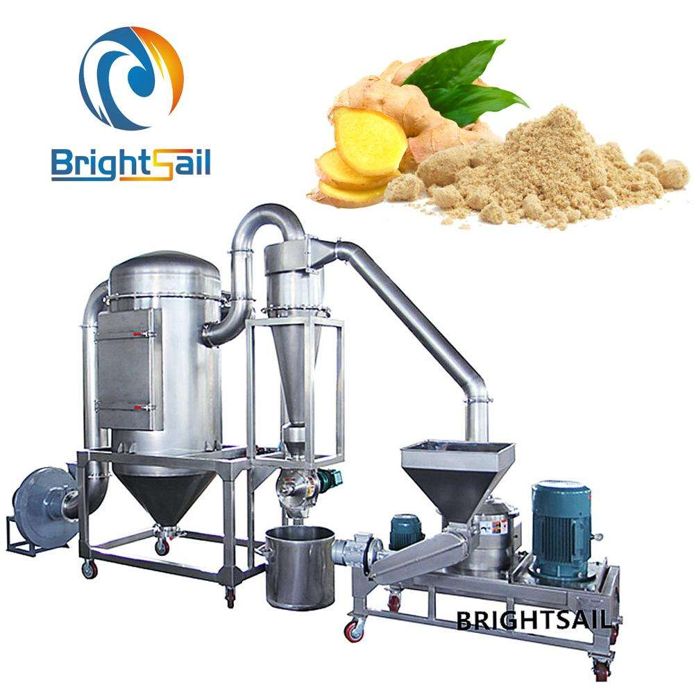 Brightsail 60-200mesh super fine ginger and garlic powder making machine