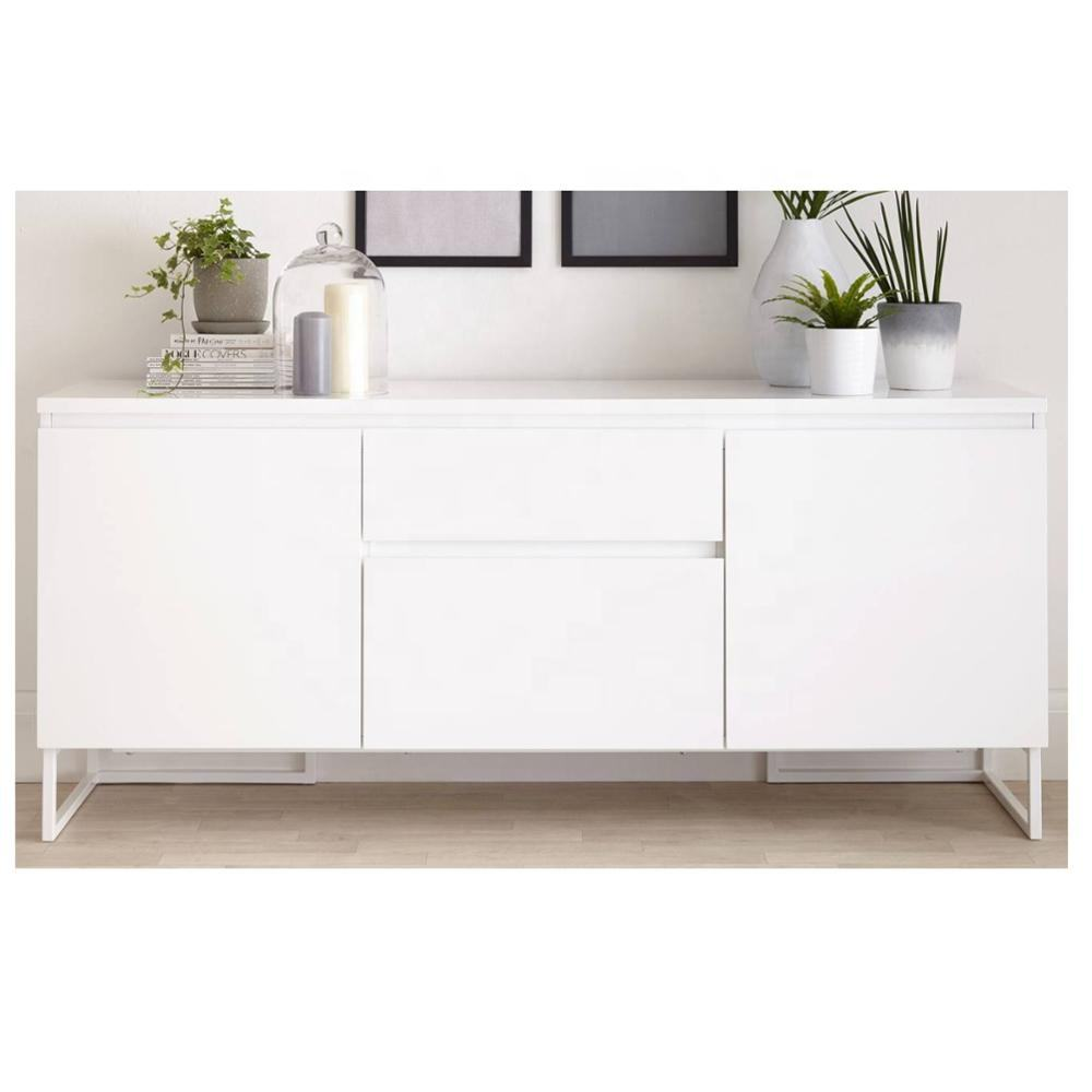 MHYA003 Modern Home Furniture Pure White Sideboard for Dining Room