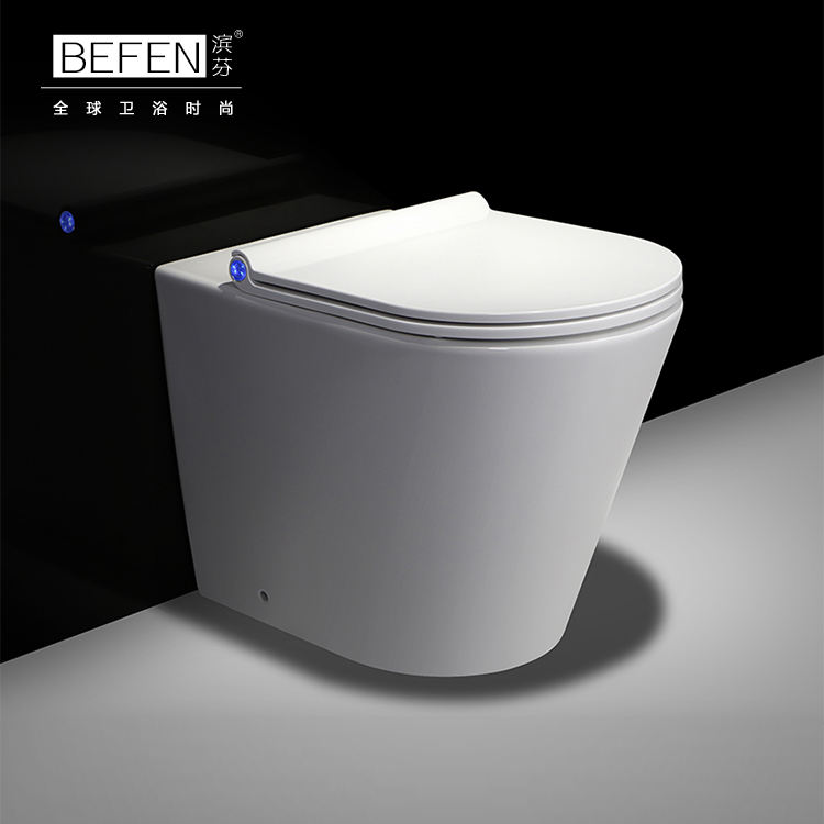 Cheap product ceramic rimle wash down human toilet bathroom wc back to wall toilet