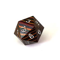 DND Wooden 20 Sided Dice
