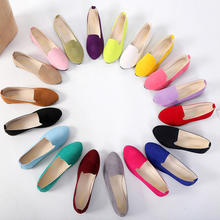 Women Flats Slip on Flat Shoes Candy Color Woman Boat Shoes Black Loafers Faux Suede Ladies Ballet Flats Plus Size 35-43