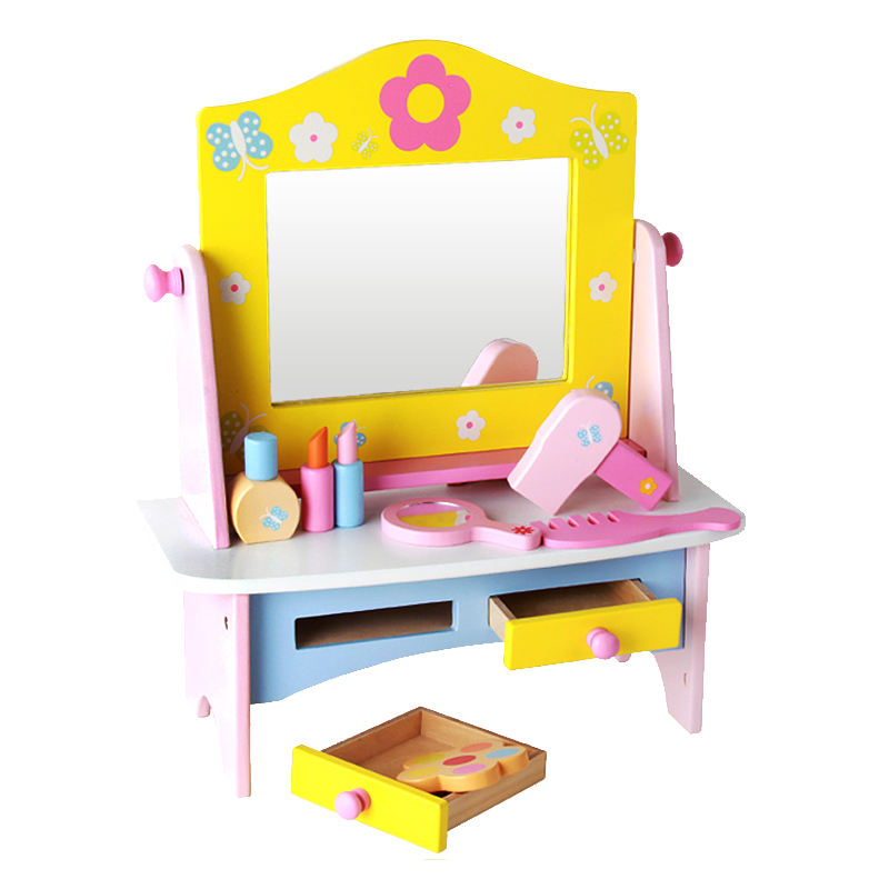 High Quality Dressing table Pretend Play baby educational toys wooden toys for kids