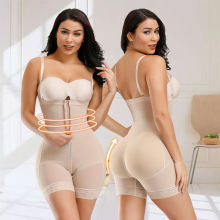 Full Body Shaper Beige Minceur Slimming Pants Arm Cinta Modeladora Zipper Gaine Amincissante Ventre Women Corset E