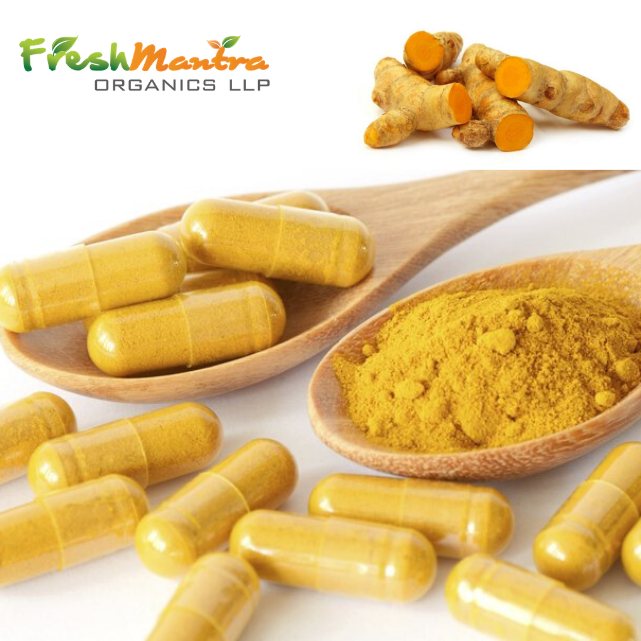 High Quality Indian Herb Tumeric Curcuma Longa Veg Capsules (500 MG) used as Anti Aging herbal Supplement