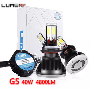 Lumen G5 Cob Quartz Tube4040 40W 4800LM 6000K Super Krachtige Bright H4 H7 H11 Led Koplamp 4 Zijden auto Lamp