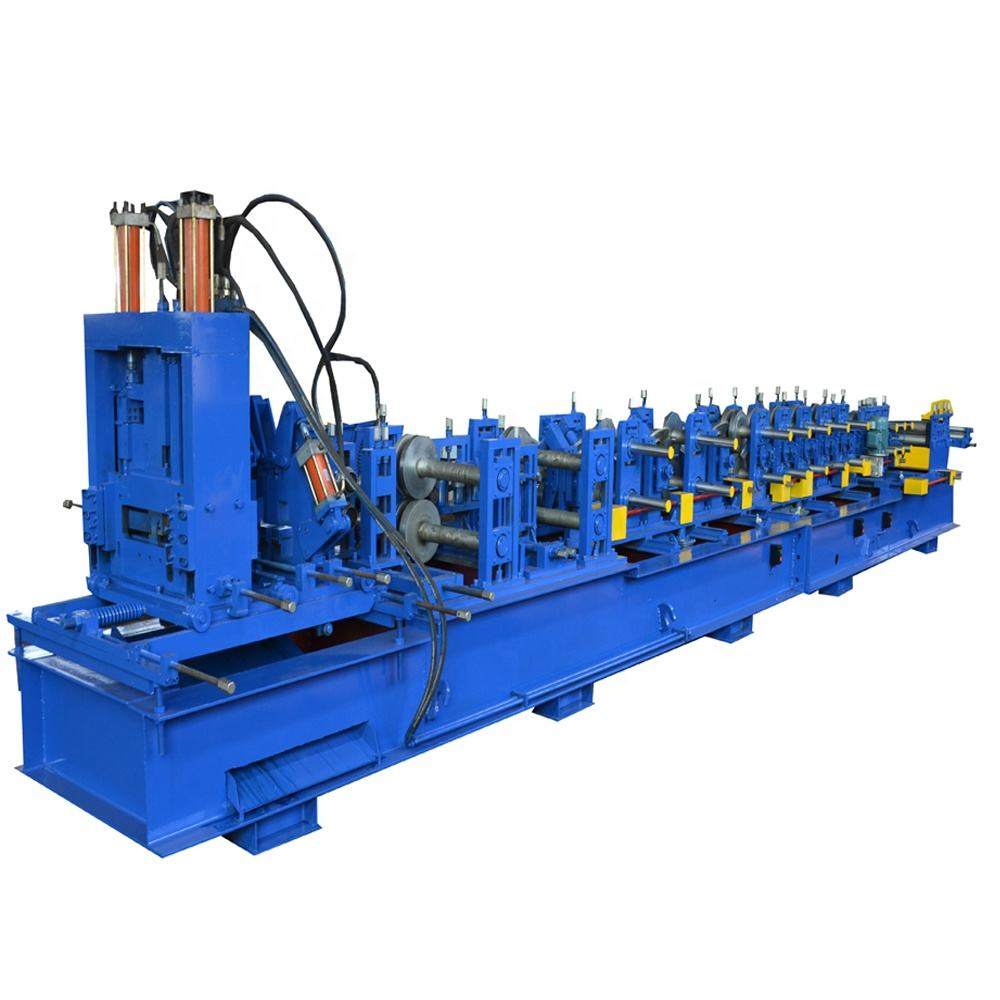 Fully automatic cold steel strip profile c z purlin roll forming machinery roof truss shape machine