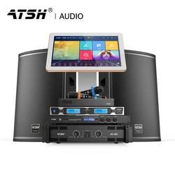 ATSH Factory Price High-end Bar Ktv Mobile Phone On-demand Voice On-demand Audio Set Karaoke with 15 inch Speakers