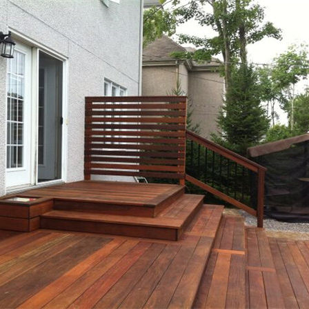 decay resistance solid ipe timber decking wood exterior flooring