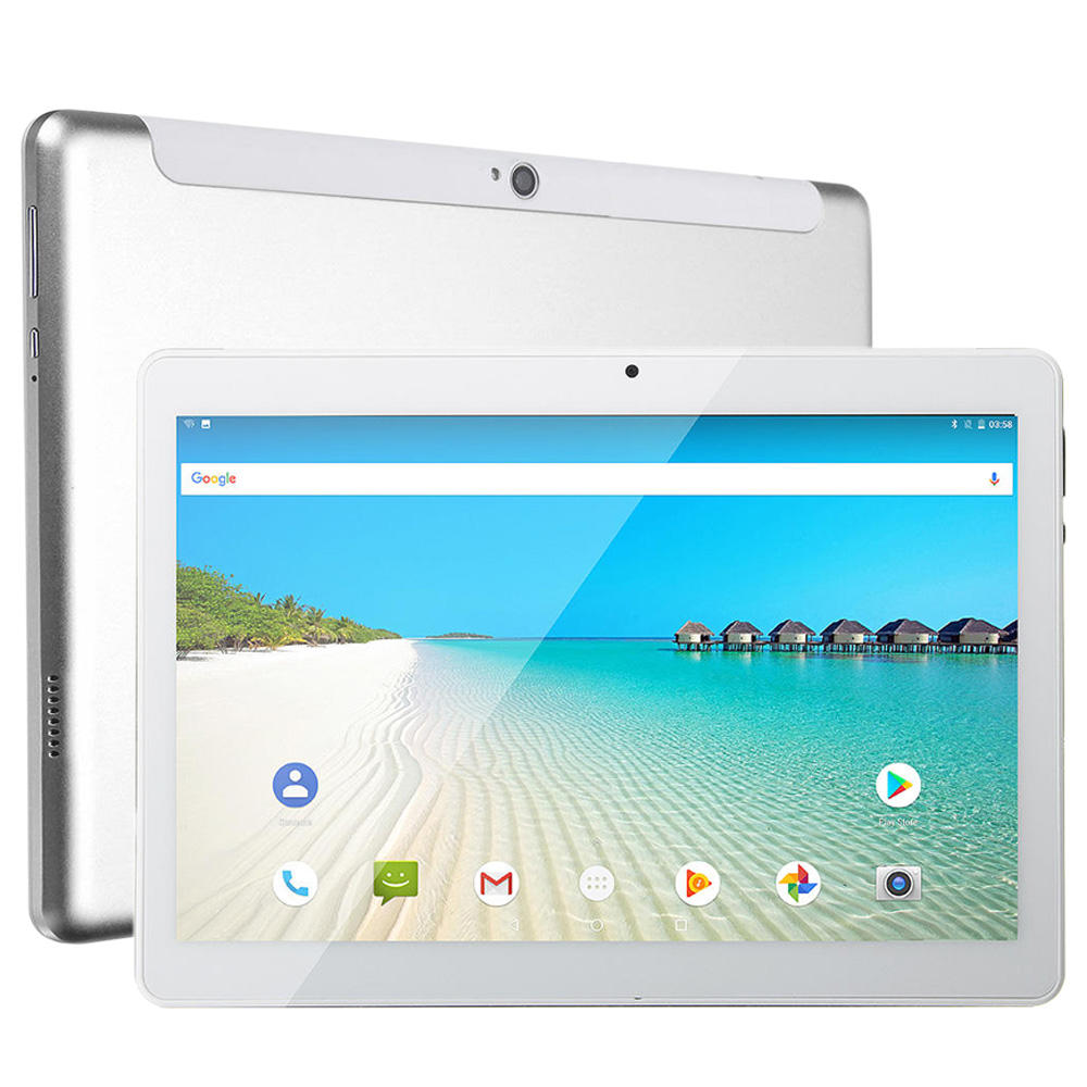 Q102 MTK6580 tablet 10.1 android 1280*800 IPS android tablet, 2GB + 32 GB, android 9.0 OS, 6000 mah batterij, 3g tablet pc