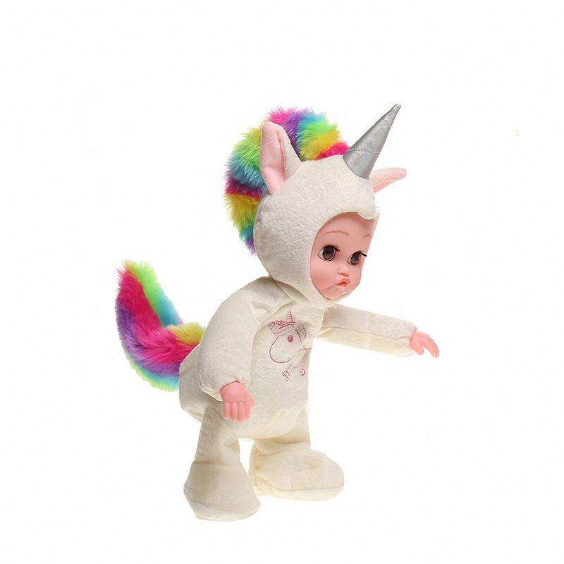 Wholesale Unicorn dinosaur electric dancing toddler baby toy adorable plush realistic kids Dolls