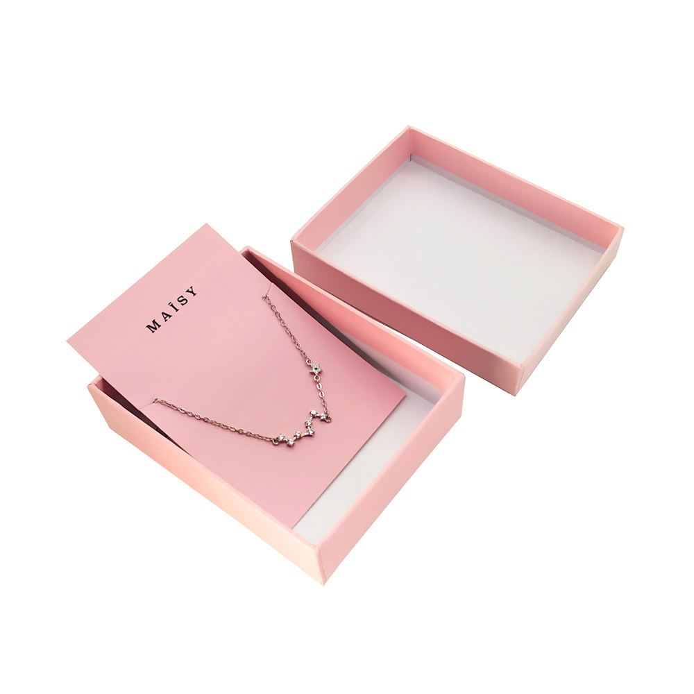 Custom paper holder display jewelry packaging necklace card