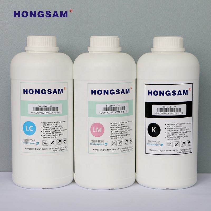 Excellent color reactive dye ink for digital textile printing