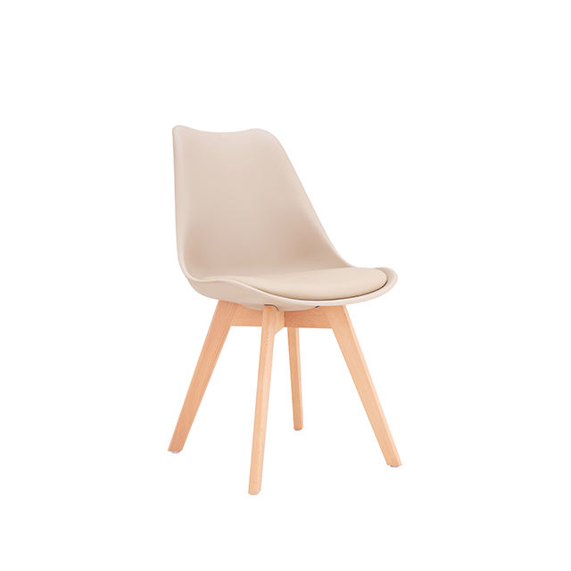 Colorful wholesale chair,Plastic PU dining chair,Modern dining chair hot sale wood legs chair colorful
