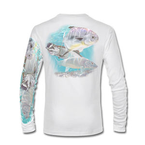 Sidiou Group Wholesale Mens UPF 50  Long Sleeve Shirt Performance Fishing Shirts High Quality Design Custom Fishing Shirt