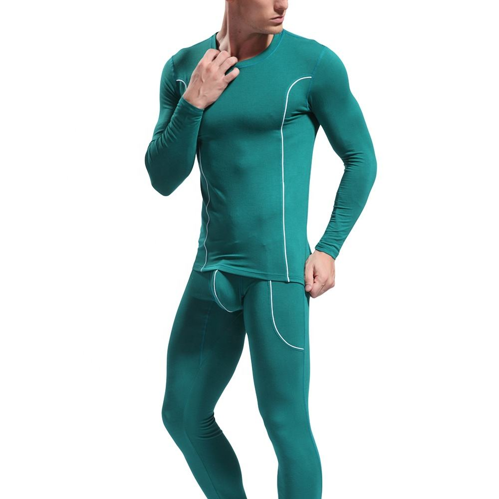 Bamboo Fiber Men Thermal Long Johns Different Size For Choice & Skinny & Thermal Solid More Colors For Choice