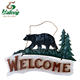 China supplier rustic home decoration wooden welcome sign