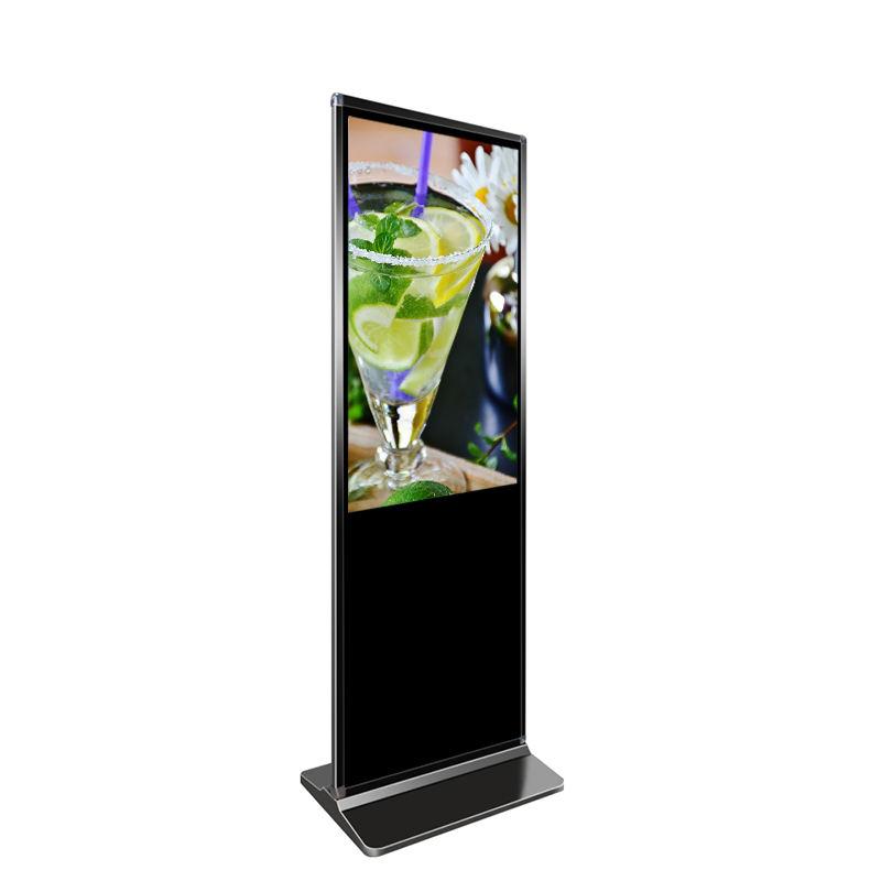 43 49 55 inch stand da pavimento <span class=keywords><strong>lcd</strong></span> pubblicità tv di tocco dello schermo di visualizzazione di pubblicità lettore di digital signage