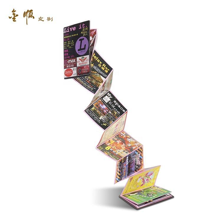 Í<span class=keywords><strong>m</strong></span>ã feito sob encomenda álbum de papelão dobrável manual de instruções do folheto de papel
