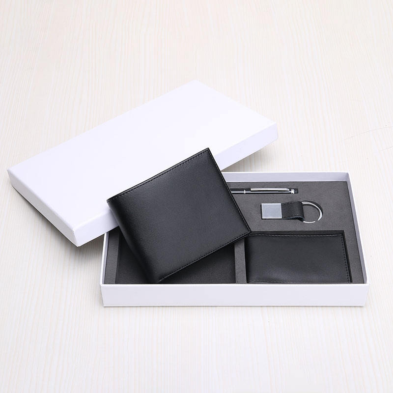 RFID Wallet Gift Set Genuine Leather Wallet For Men Gift Set