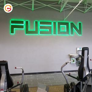 Jaguarsign Custom Bedrijf Rvs Logo Metalen Alfabet Letters Indoor Led Backlit Brief Gym Led Logo Teken Fabrikant