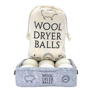 6 Pack 100% wool felt bamboo dryer balls laundry balls