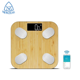 Fashion Bamboo Smart Body Weight Scale Body Digital Scale Bamboo Bathroom Electronic Weighing Scale