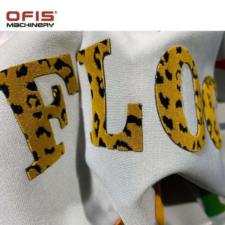 OFIS adhesive thermal Press colorful flock heat transfer Vinyl for T-shirt