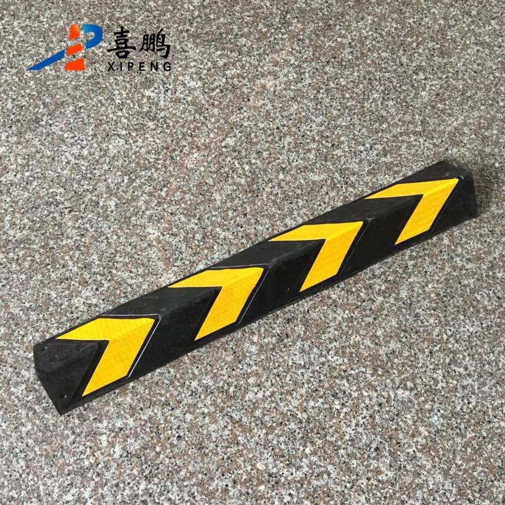 High Quality Reflective Corner Rubber Corner Guard For Parking Lot Stop cable protector