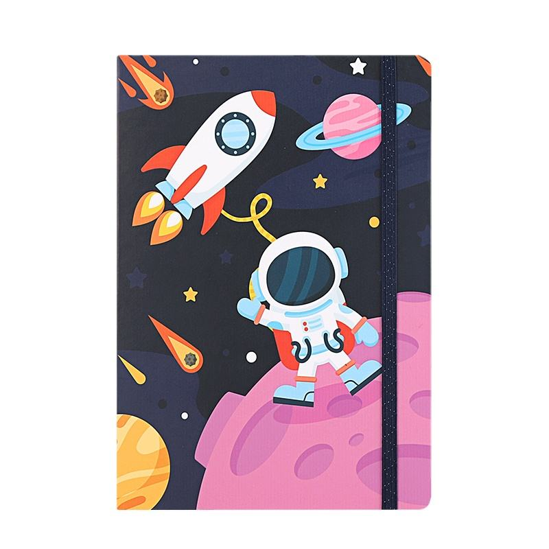2020 Fashion design outer space robot printed creative student notebook