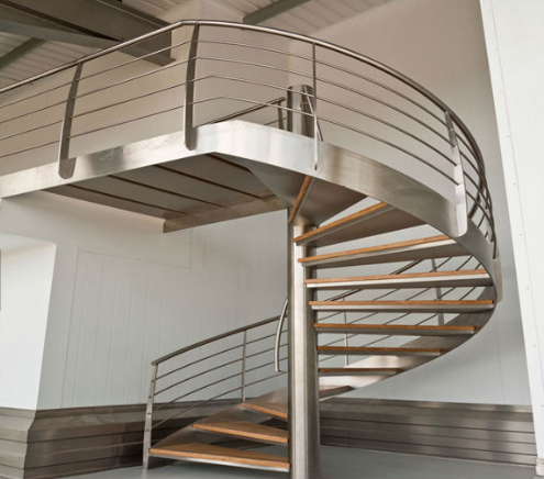 Indoor Stainless Steel Round Stairs