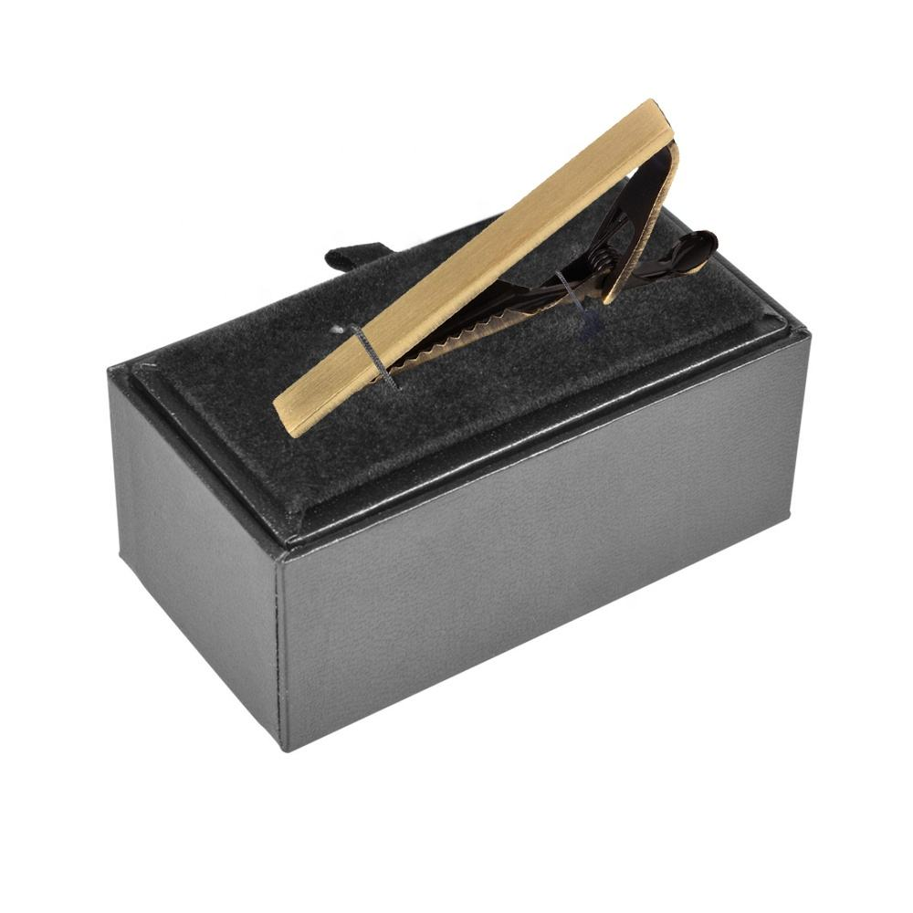 Custom Black Elegant Cufflinks Packaging Tie Clip Gift Box With Logo