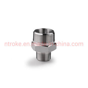Stainless Steel Forged Pipe Fittings NPT/BSPT Male Thread Connectors Reducing Hex Nipple