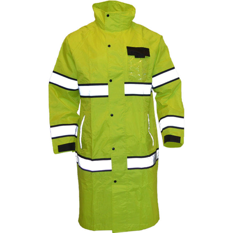 Jaune fluo couture 100% polyester <span class=keywords><strong>imperméable</strong></span> trench <span class=keywords><strong>imperméable</strong></span> pluie