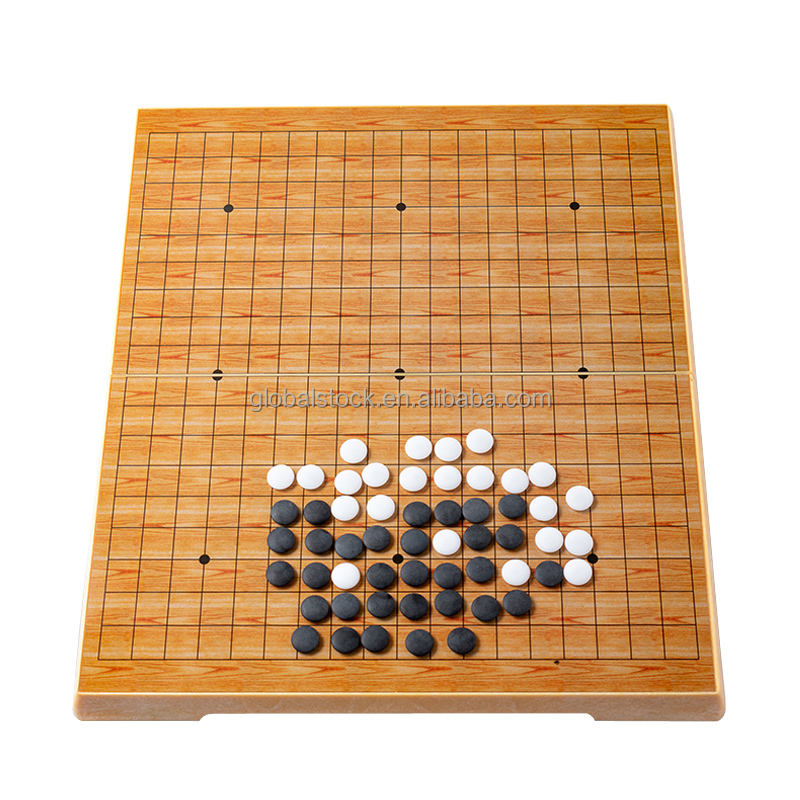Chinese Oude Bordspel Weiqi <span class=keywords><strong>Checkers</strong></span> Gobang Magnetisme Plastic Go Spel Kinderen Speelgoed Gift