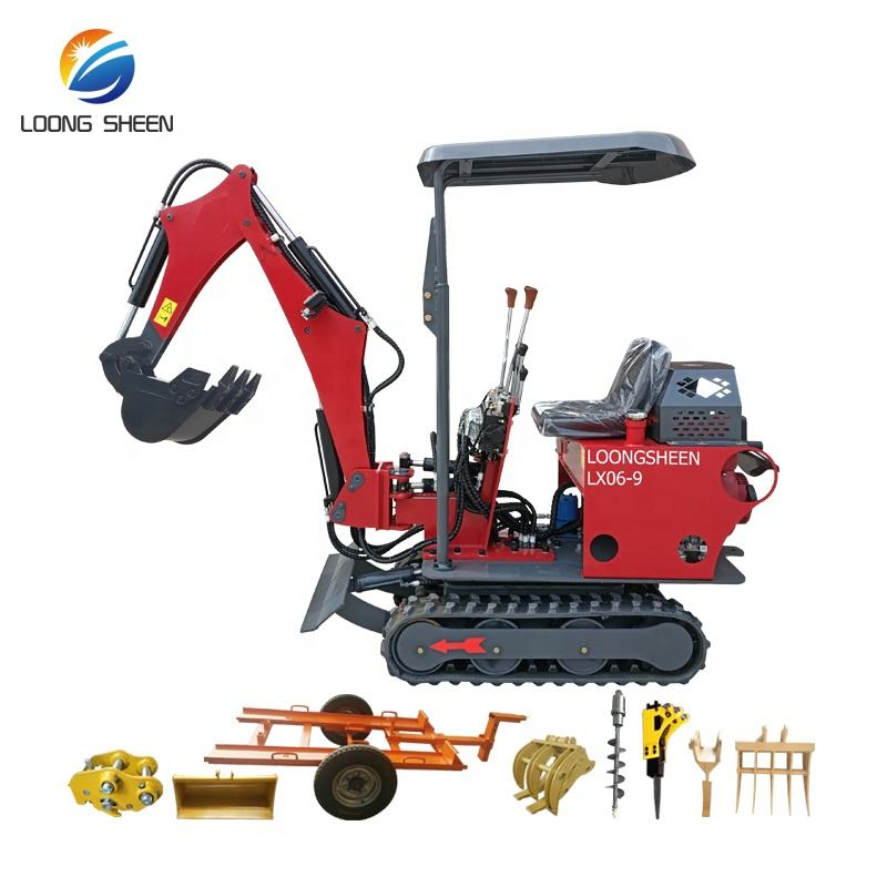 Home Use Mini Excavators 800キロWith Accessories Swing Boom Canopy CE EPA
