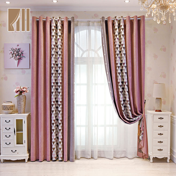 Good quality customized roll blackout jacquard modern curtains for the living room