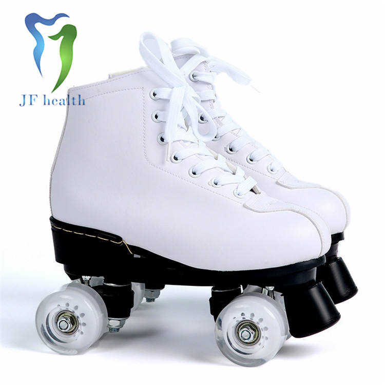 Professional simple design double row wheel skating shoes popular roller skates for wholesale