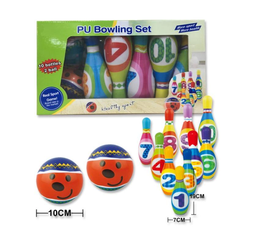 Kids Outdoor Bowling Balls Toys Backyard Play Games Set For Children