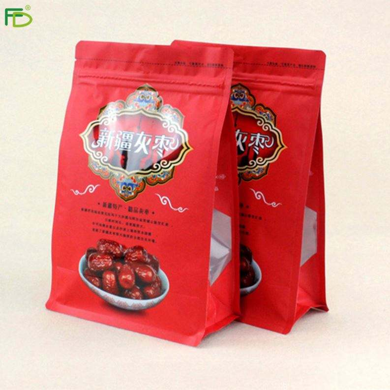 Square Bottom Transparent Aluminum Foil Penang Packaging Bag