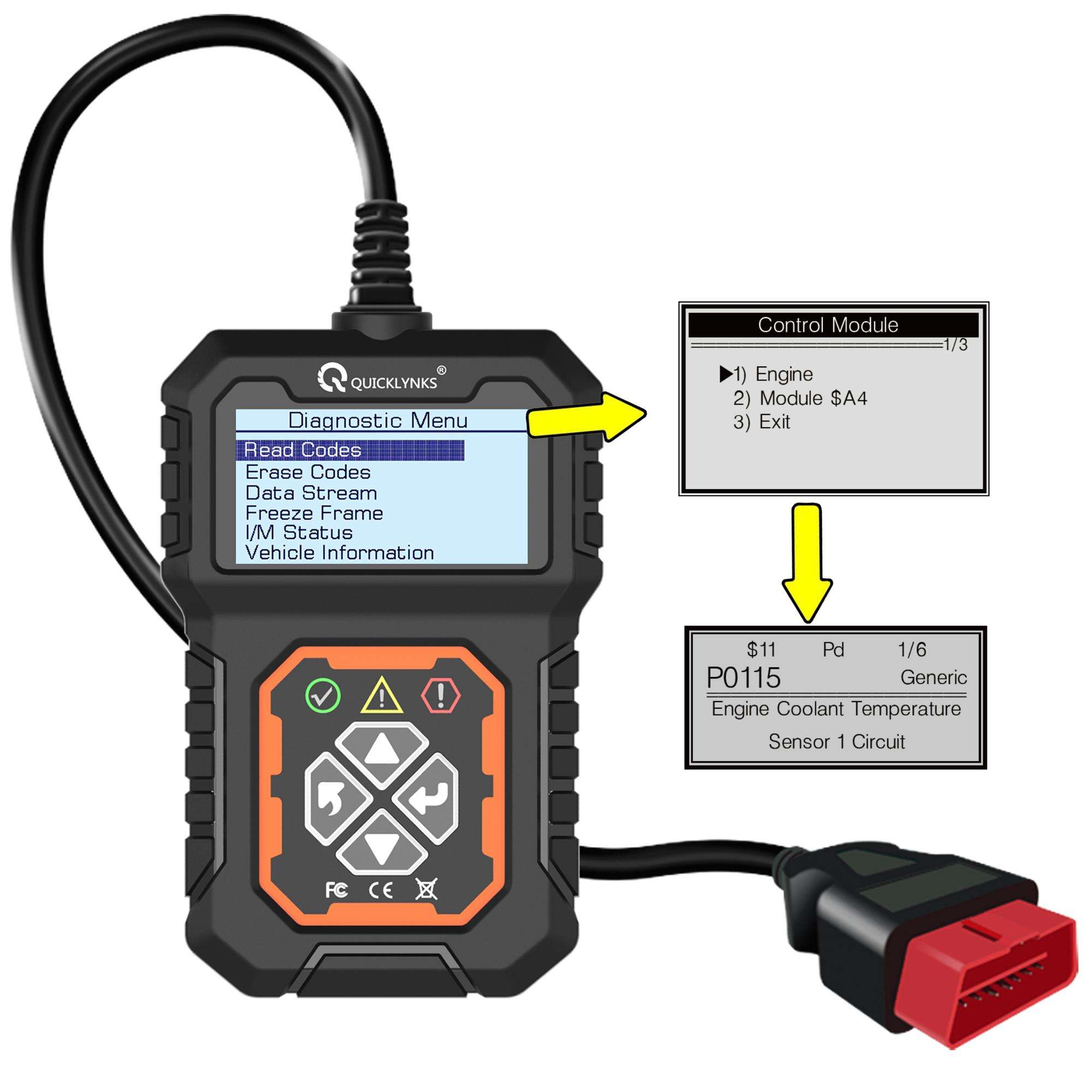 Factory Price Obd2 Monitor Code Reader Multi Vehicle Diagnostic Tool Obd II Full System Scanner Obd Diagnostic For Cars