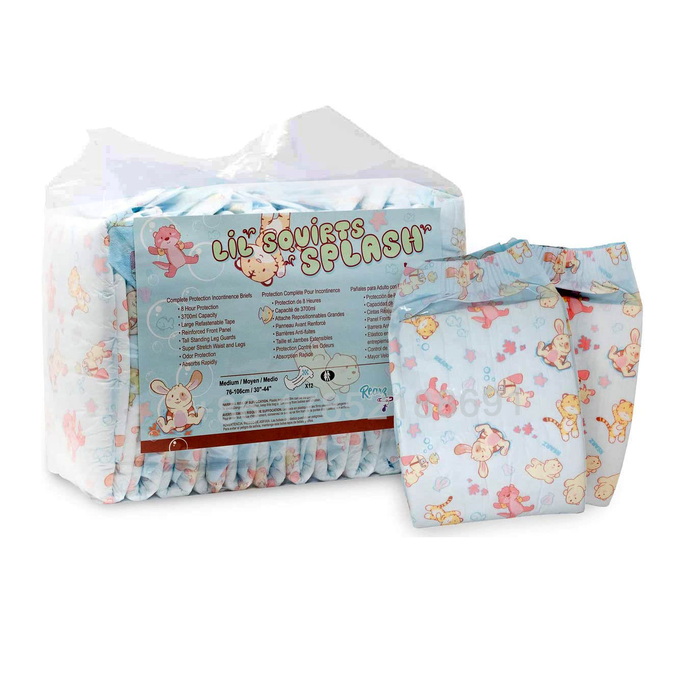 Overnight high absorbent eco friendly prevail printed disposable thick sexy unisex women man adult baby diaper