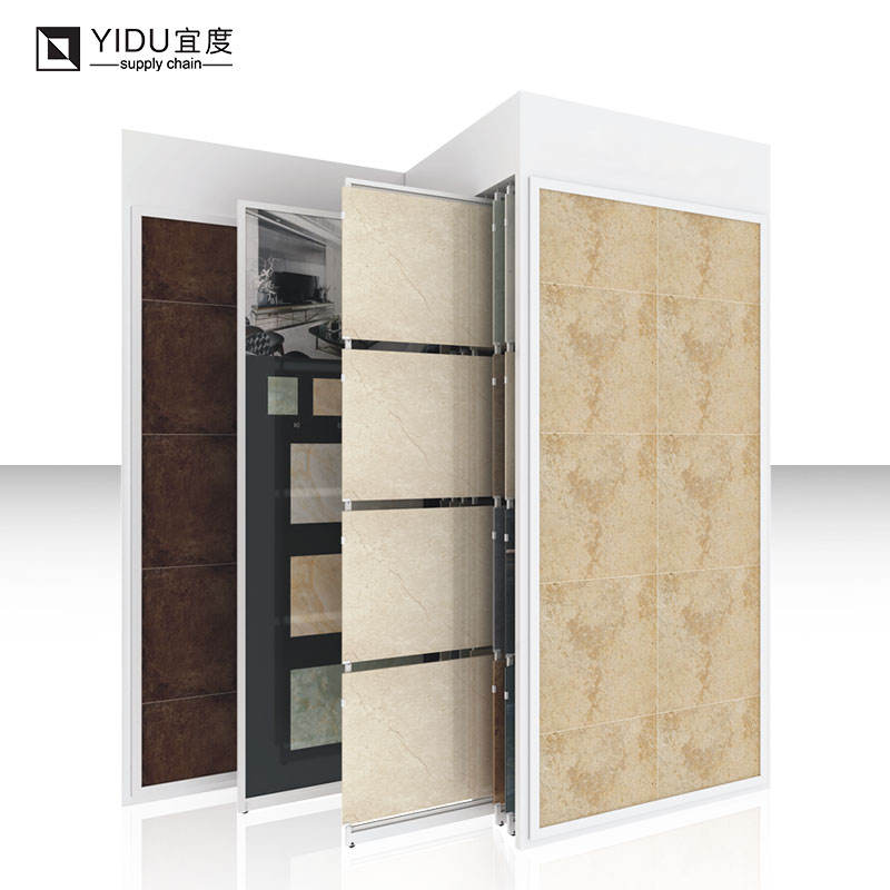High quality stone display case rack quartz stone display rack ceramic wooden store retail tile display rack