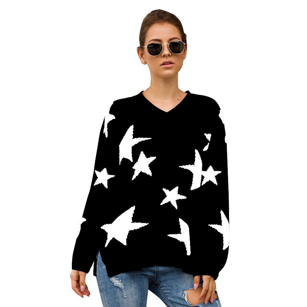 2020 latest design apparel knitted sweater long sleeve cotton sweater