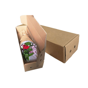 Quality Strong Cheap Corrugated Flower Shipping Box Paper Box for Flower Delivery Packaging