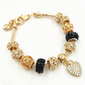 Charm Bracelet Beaded Bracelet Dubai 18k Gold Plated Cuff Bangles Jewelry xuping Handmade DIY Charms Bracelet for Women