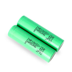 Wholesale Green 100% Original INR18650-25R 2500mAh 20A 3.6v Rechargeable Flat Battery For Mods