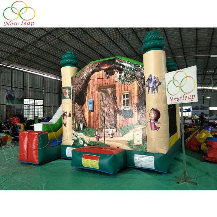 Combo Air Trampoline Inflatable Bouncer Commercial Inflatable Bounce House with Slide