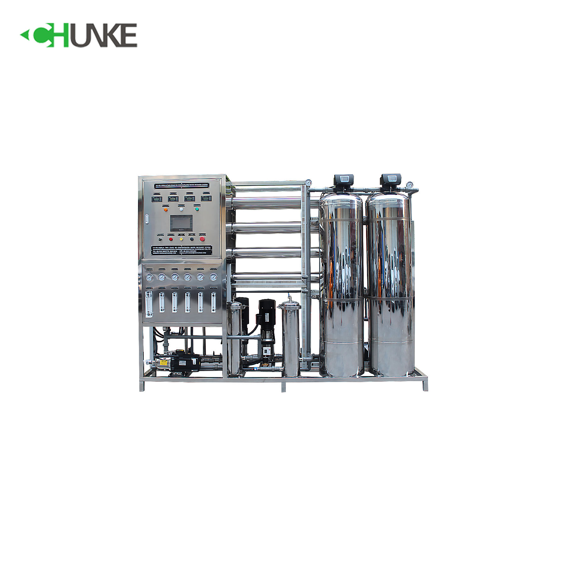 1T Full Stainless Steel Two-Stage Reverse Osmosis system