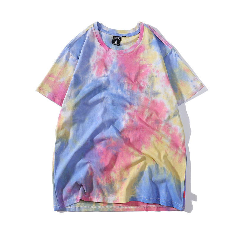 Wholesale plain women tie dye cotton men tye dye t-shirts customised tie dye t shirts